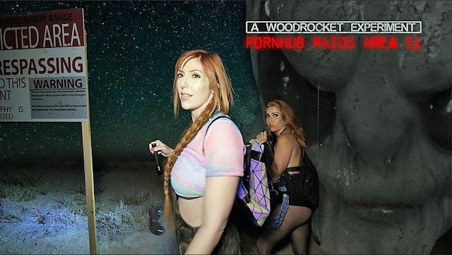 Dos actrices porno acuden a la Area 51, y descubren un extraterrestre