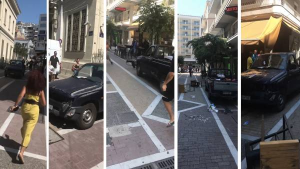 «Τρελή κούρσα» φορτηγού χωρίς οδηγό προκάλεσε πανικό στην Καβάλα [Βίντεο]