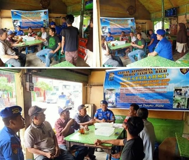 Kanit Patroli Sat Polairud Polres Tanjung Balai Sampaikan Pesan Kamtibmas Kepada Warga