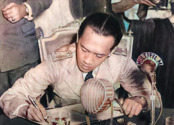 Sri sultan Hamengkubuwono IX saat ditilang