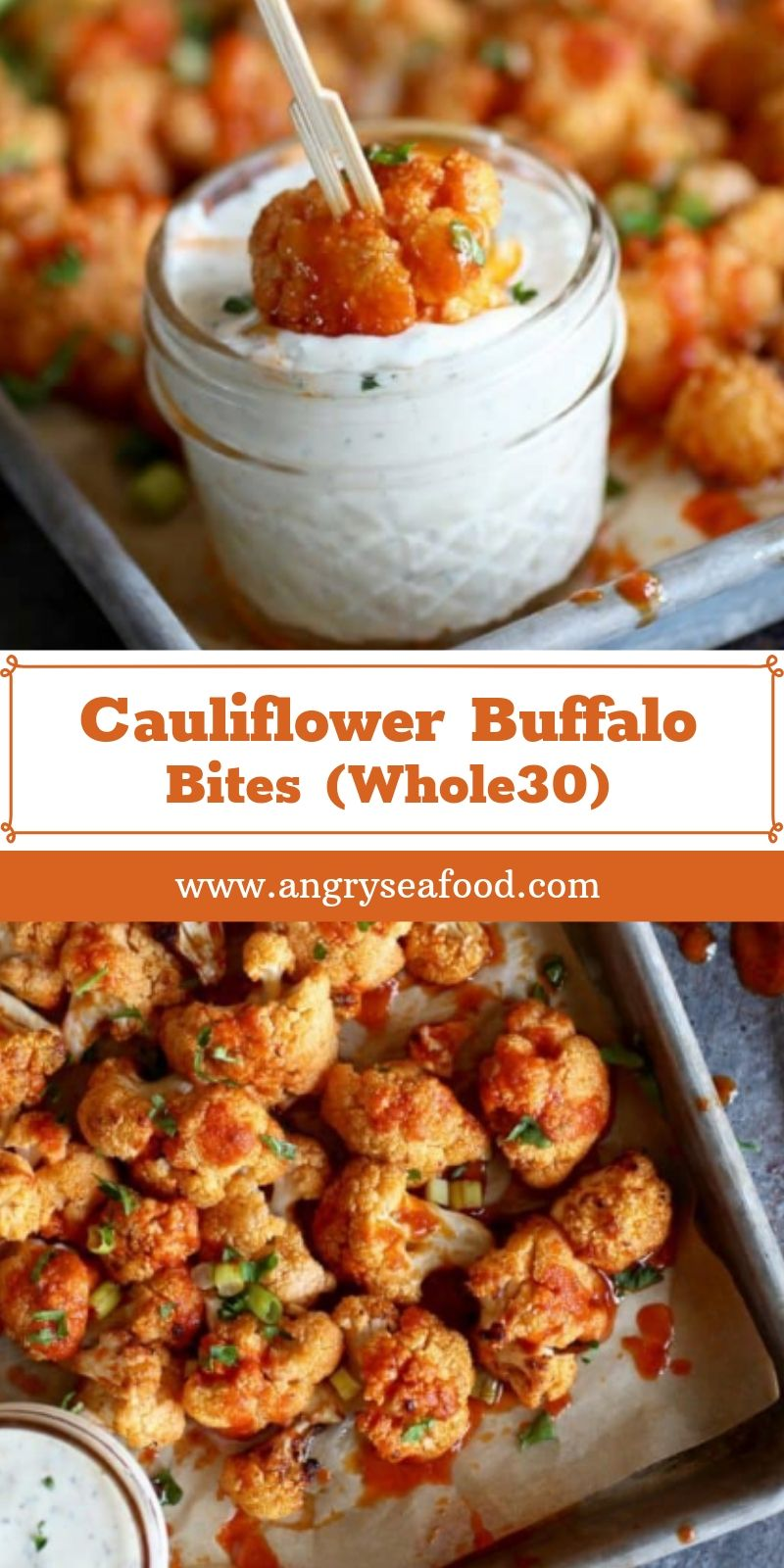 Cauliflower Buffalo Bites (Whole30)