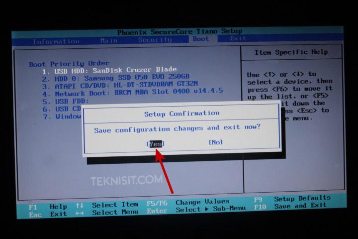 Cara mengatur boot priority di BIOS