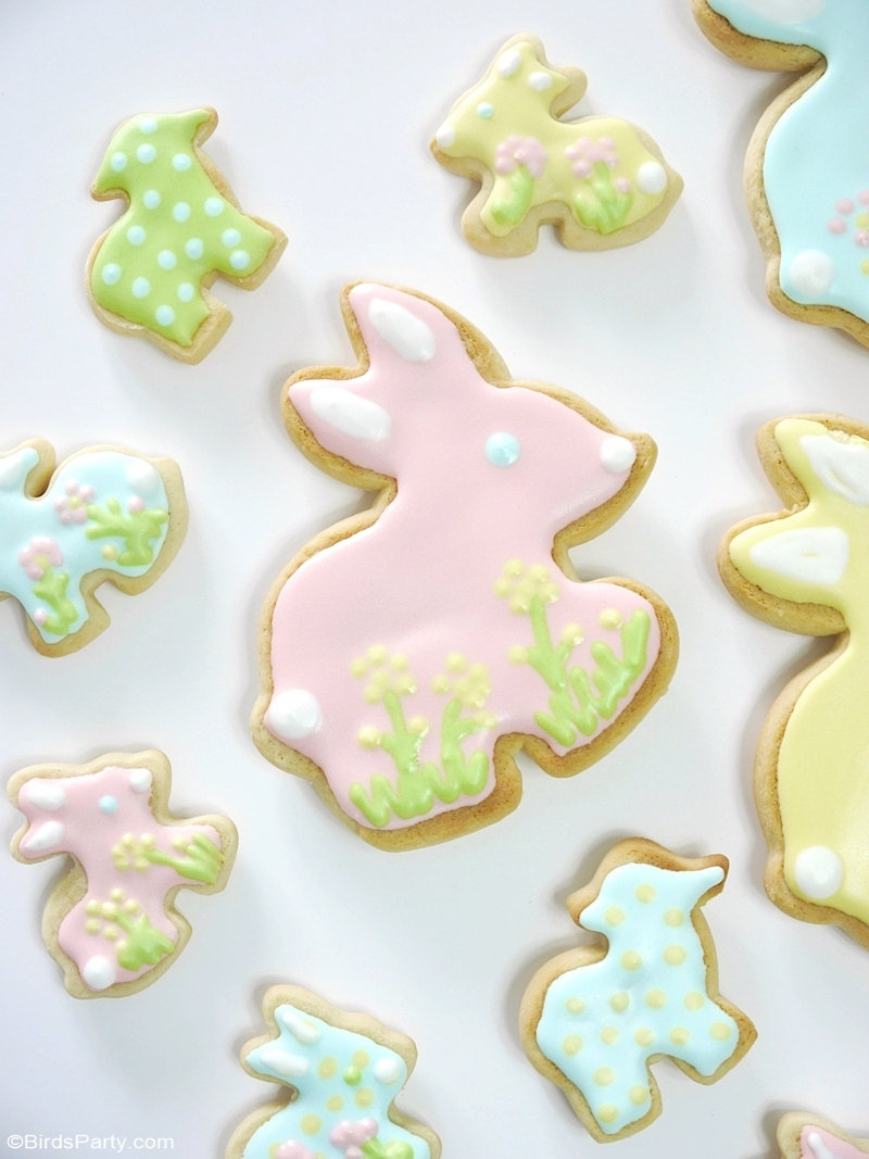 Easter Pastel Decorated Sugar Cookies 🐰