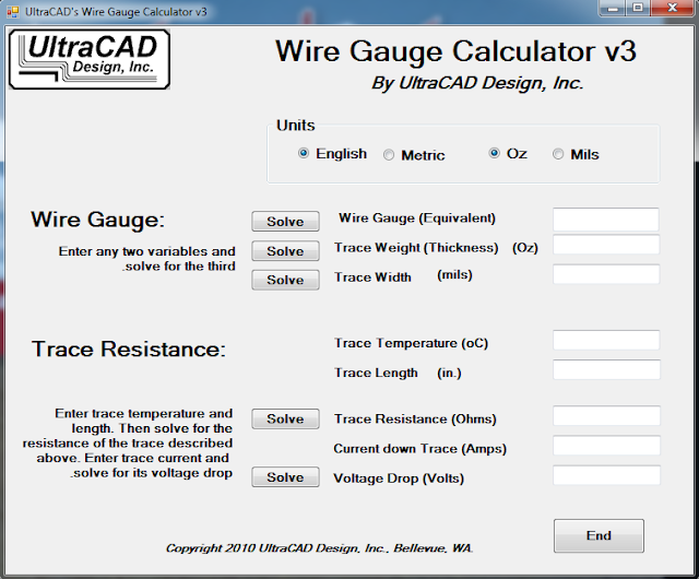 Screenshot Wire Gauge Calculator