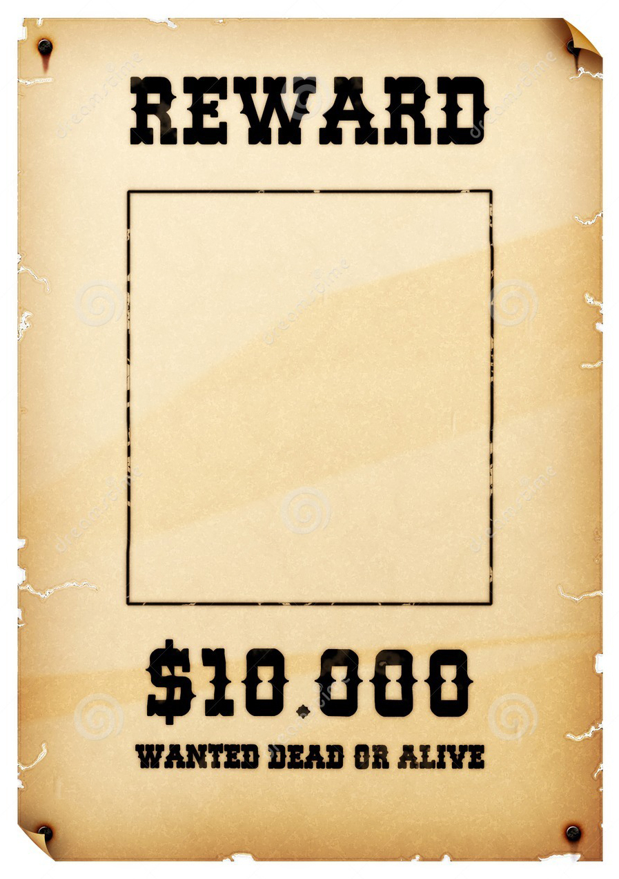 Reward Template pics photos wanted poster blank chart free word – Reward Posters Template