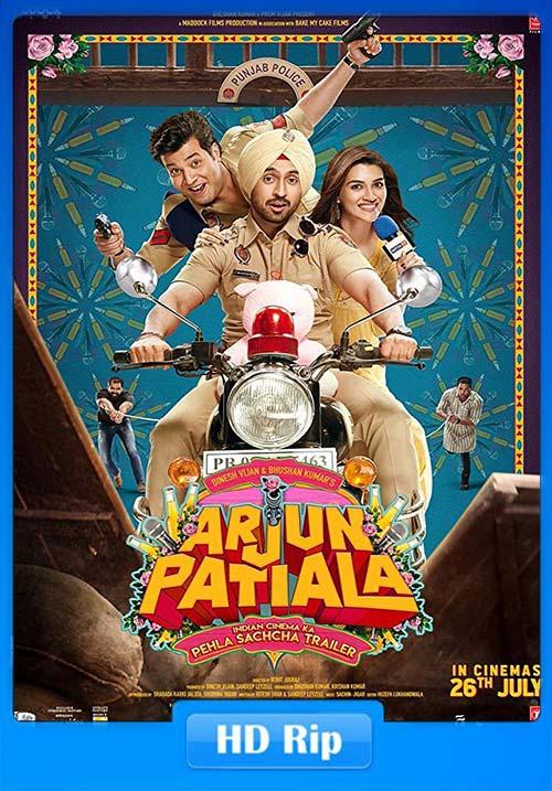 Arjun Patiala 2019 Hindi 720p HDRip ESub x264   480p 300MB   100MB HEVC Poster