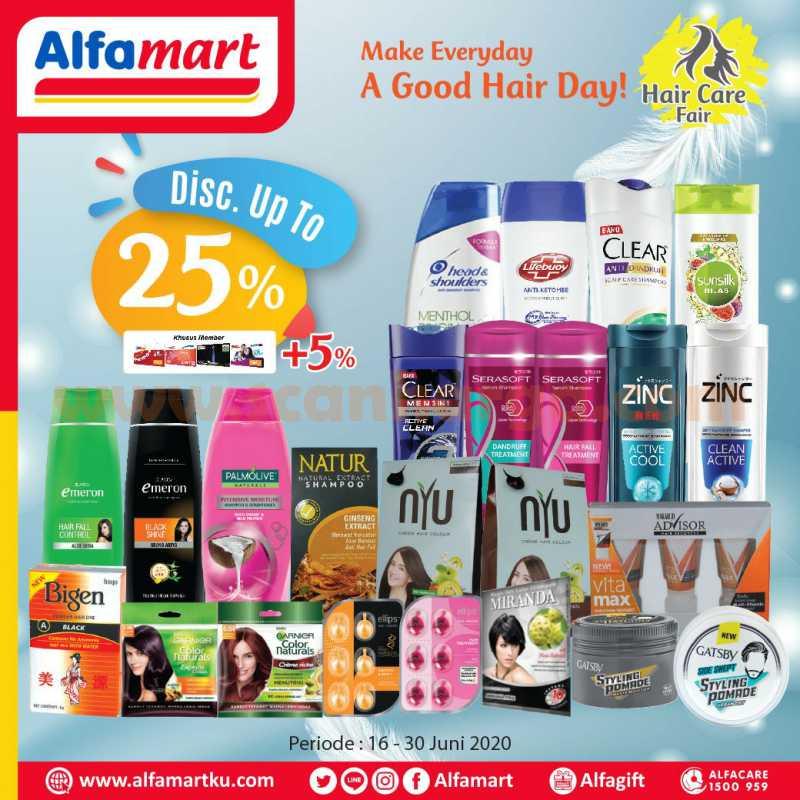 Promo Alfamart Hair Care Fair Terbaru Periode 16 - 30 Juni 2020