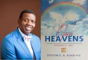 Open Heavens 27 September 2017: Wednesday daily devotional by Pastor Adeboye – Principles, Not Tears