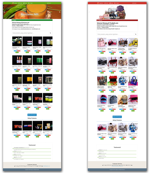 Jual  Script Website Olshop dan Reseller Dalam SATU PAKET