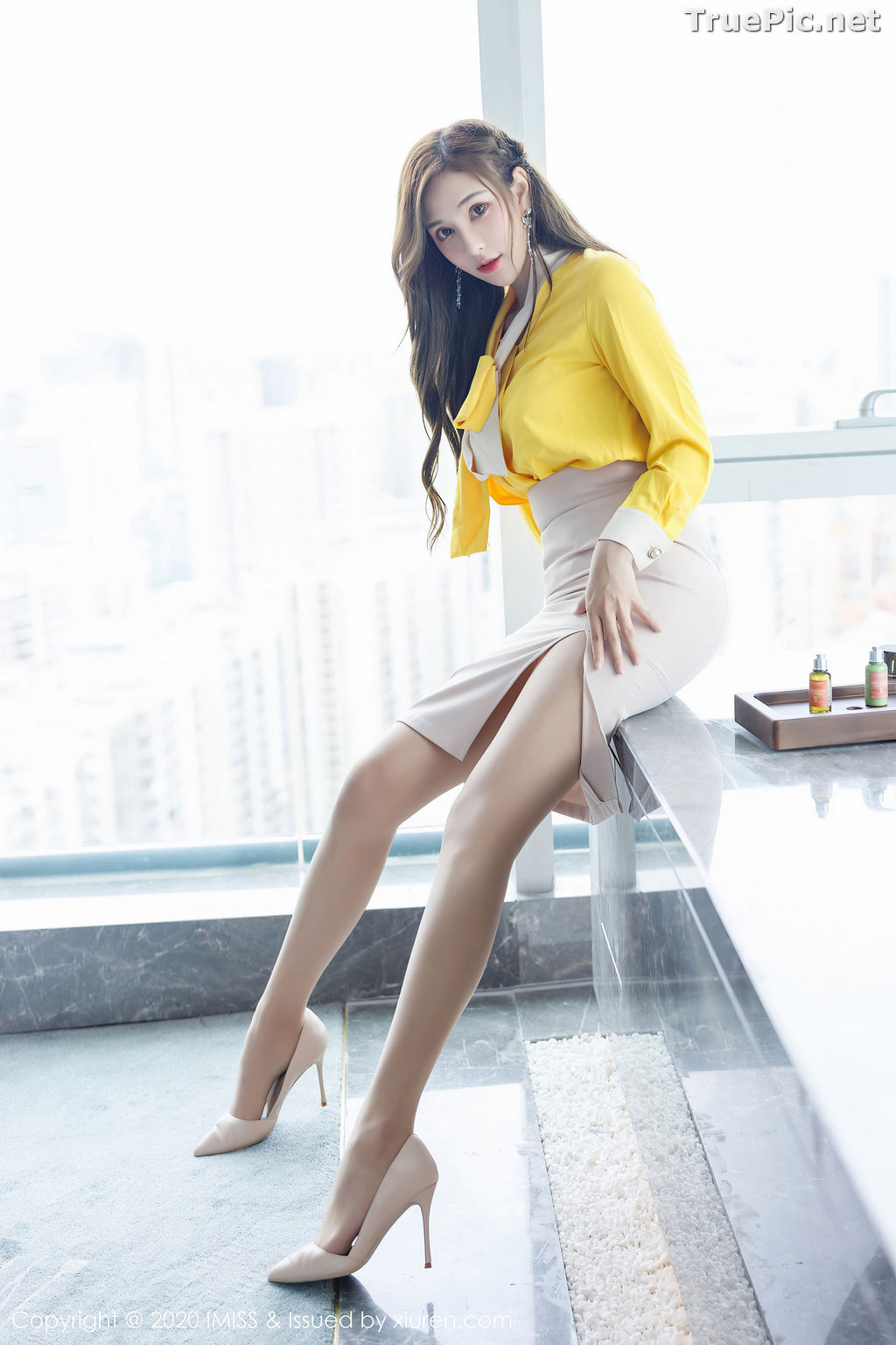 Image IMISS Vol.494 - Chinese Model - Lavinia肉肉 - Beautiful Long Legs Secretary - TruePic.net - Picture-4