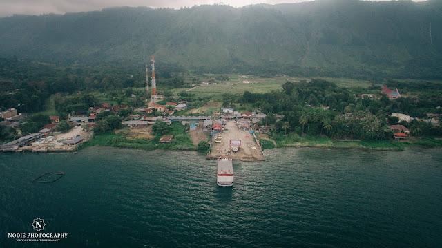 FOOTAGE LAKE TOBA TOMOK MEDAN SUMATERA UTARA  DESEMBER 2017 DJI PHANTOM 3