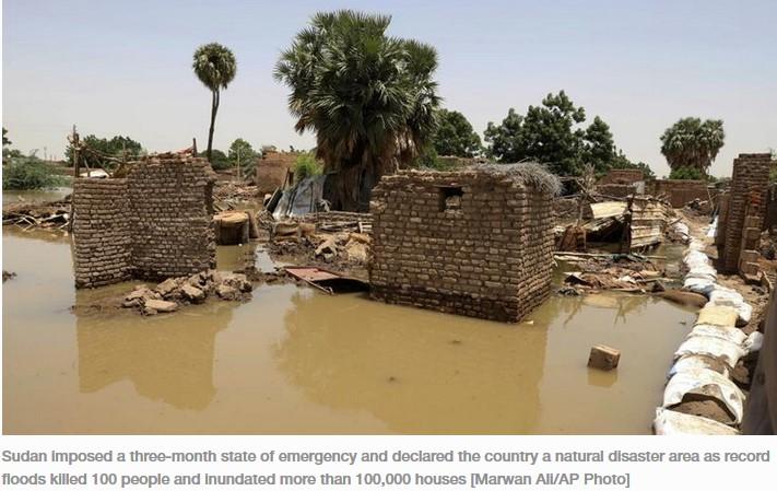 Banjir sudan ribuan menjadi tunawisma