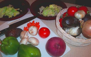 Filet Mignon and Fresh Veggie Salad