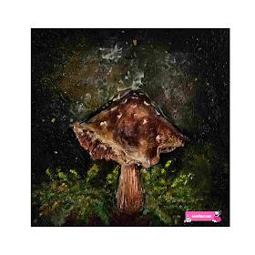 mixed media mushroom art