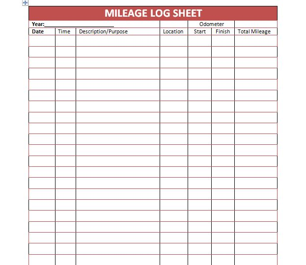 30 free mileage log templates