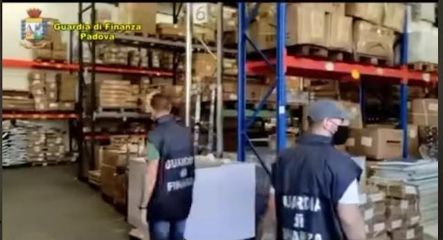 Padova: maxi sequestro di 18,5 milioni di articoli per negozi e uffici