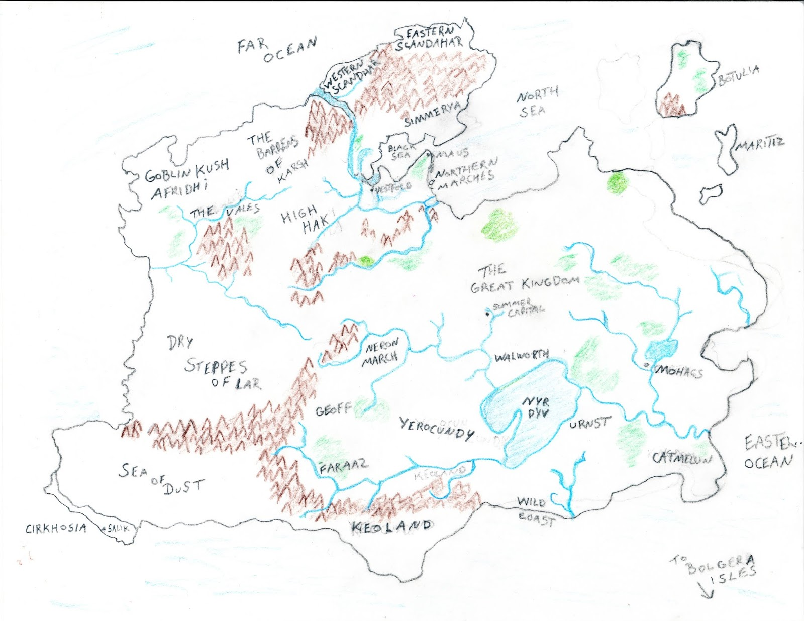 Map Of Eastern Canada, Anyway Below Is My Somewhat Crude Hey Im No Raphael But Eminently Functional World Map Of Blackmoor Feel Free To Use Or Improve As You Please, Map Of Eastern Canada