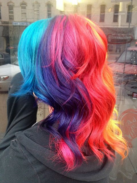diy hair styles adorable rainbow hairstyles the haircut web 1866