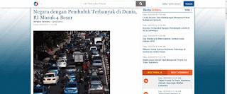 berita indonesia penduduk terbanyak