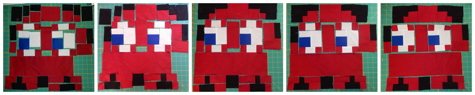 Blinky Pac Man Ghost Quilt Block by Afton Warrick @ Quilting Mod