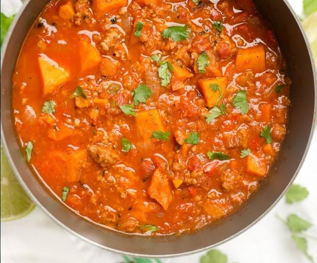 Paleo Sweet Potato Chili #healthy #soup