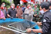Kunker Kapolda Lampung Dalam Rangka  Panen Raya dan Peresmian Kampung Tangguh Nusantara di Tuba Barat