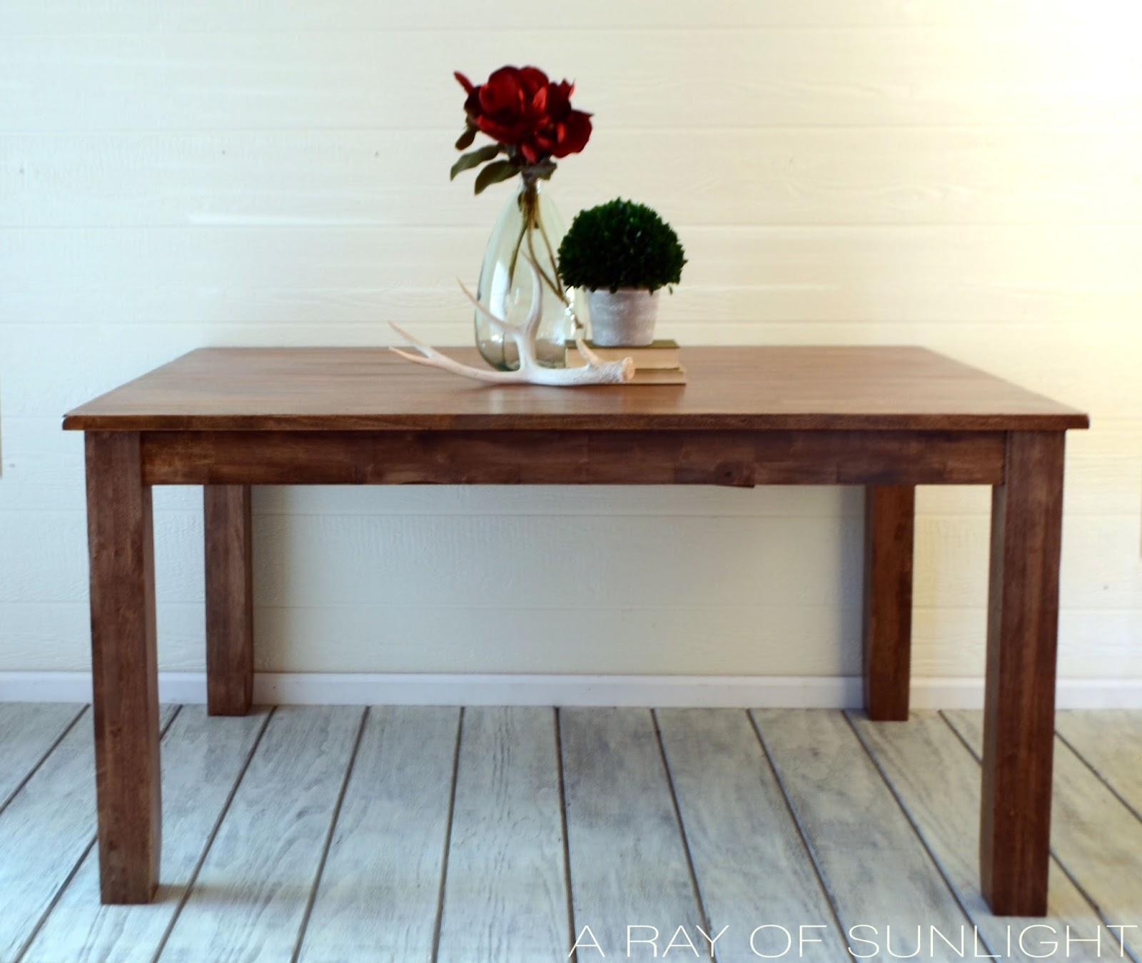 Weathered Wood Dining Table A Ray of Sunlight