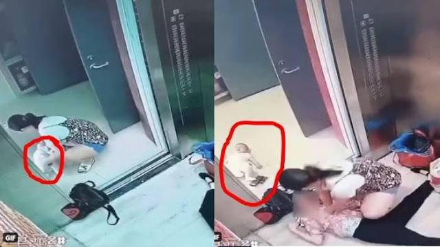 Viral Aksi Ibu Muda Letakkan Bayi di Lantai Demi Tolong Nenek Serangan Jantung, Spontan Beri RJP