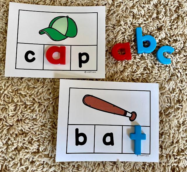 Kindergarten CVC Word Work Activity