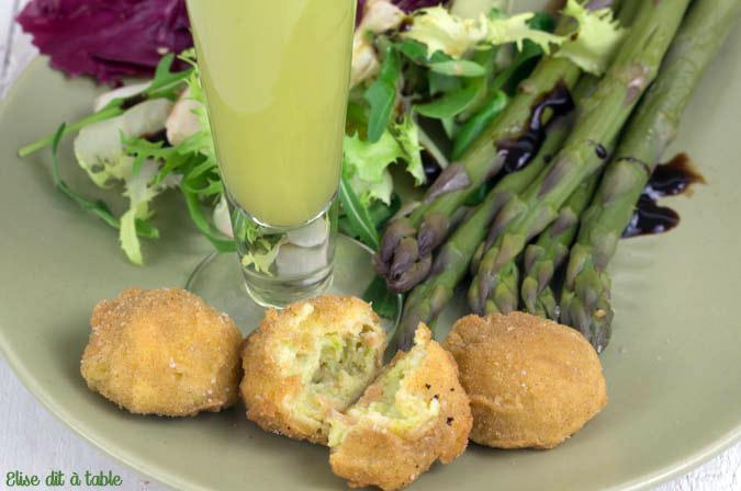 Croquettes d'asperges et saumon