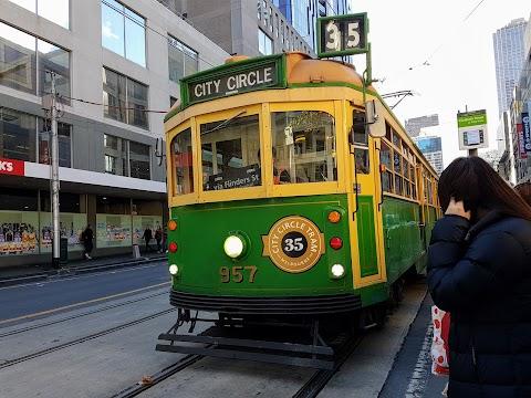 【墨尔本景点】墨尔本亲子游@Day9 part 1 35路游客免费电车你应该知道的事 Melbourne City Circle Tram, Route 35
