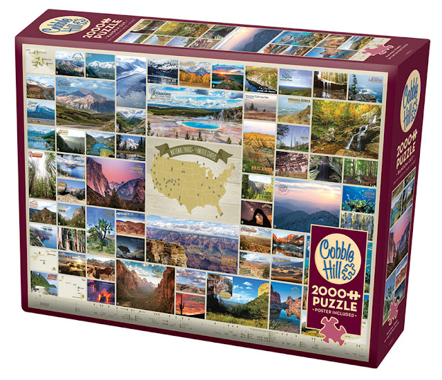 National Parks of the US 2000 piece puzzle box Cobble Hill Puzzles