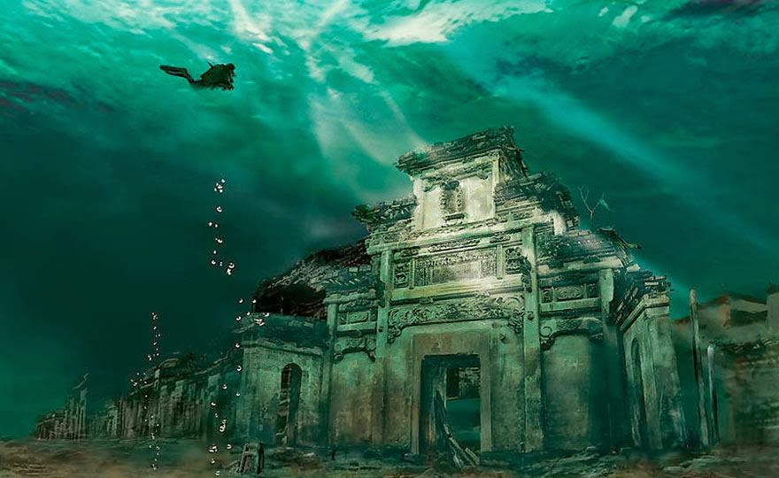 Beautiful Underwater Abandoned Place in Shicheng, China