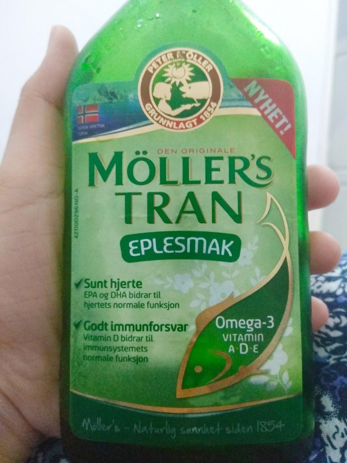 Review Mollers Tran Rasa Apel, Minyak Ikan Cod dari Norwegia