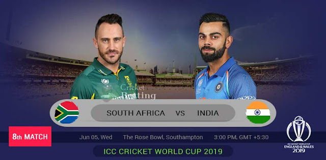 ICC World Cup: 8th Match South Africa vs India Dream11 team for grand League