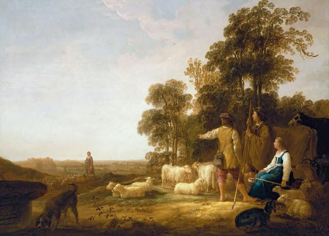 Альберт Кёйп - Пейзаж с пастухами