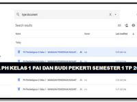 Soal PH Kelas 1 PAI dan Budi Pekerti Semester 1 TP 2018/2019