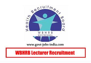 WBHRB Lecturer Recruitment