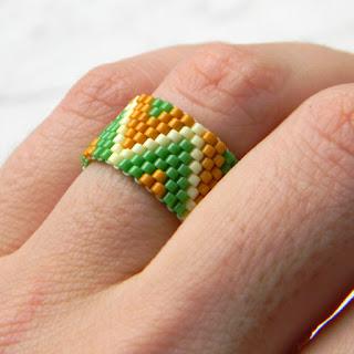 купить кольцо из бисера украшение этника россия каталог колец