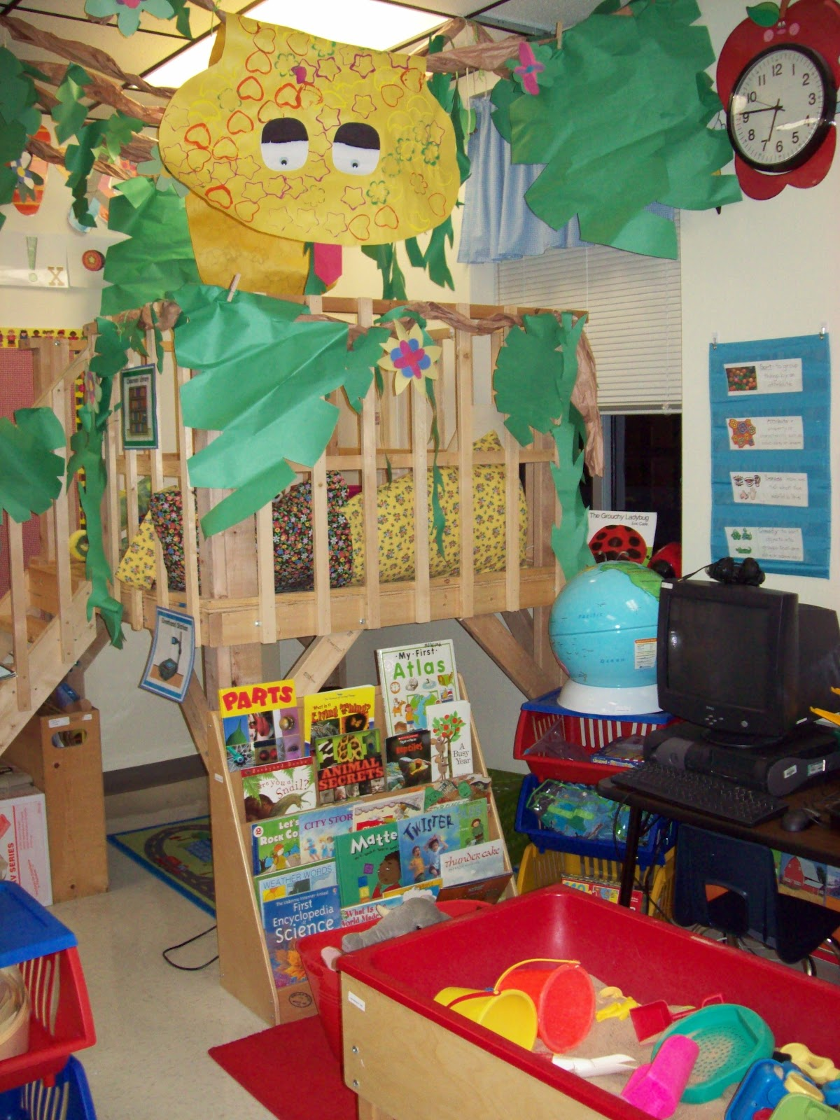 Kinder Garden: Chalk Talk: A Kindergarten Blog: Classroom Library Linky Party