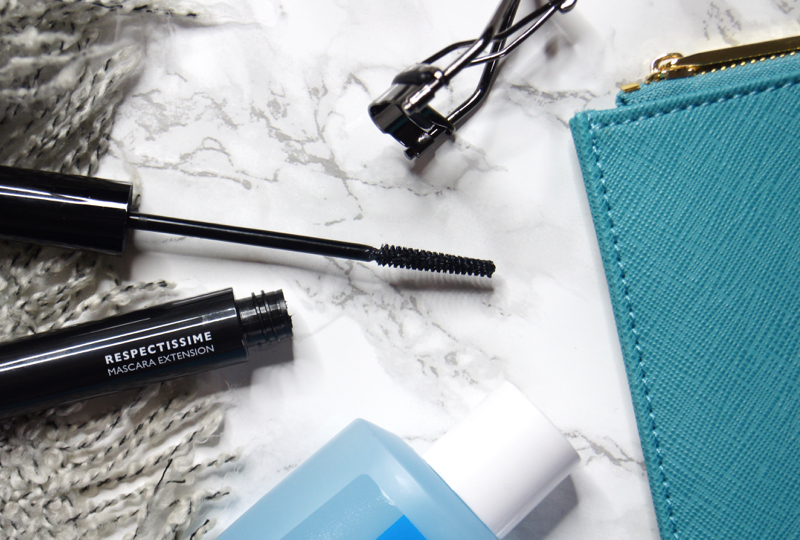 la roche-posay respectissime extension length curl mascara review swatch perfect sensitive eyes