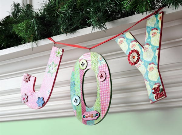 Joy Banner by Mod Podge Rocks