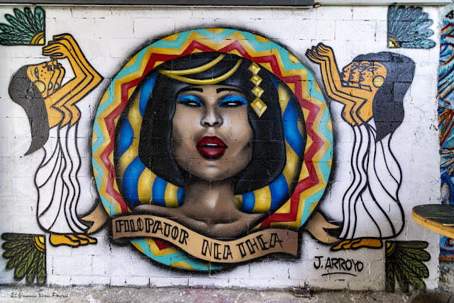 Mural 'Filopator...' de Arroyo, Zorrozaurre - Bilbao, por El Guisante Verde Project