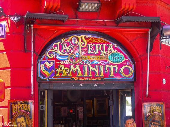 Vista de bar la Perla en Caminito Buenos Aires