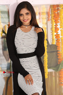 Telugu Actress Karunya Chowdary Stills in Black Dress at Soda Goli Soda Movie Opening  0159.JPG