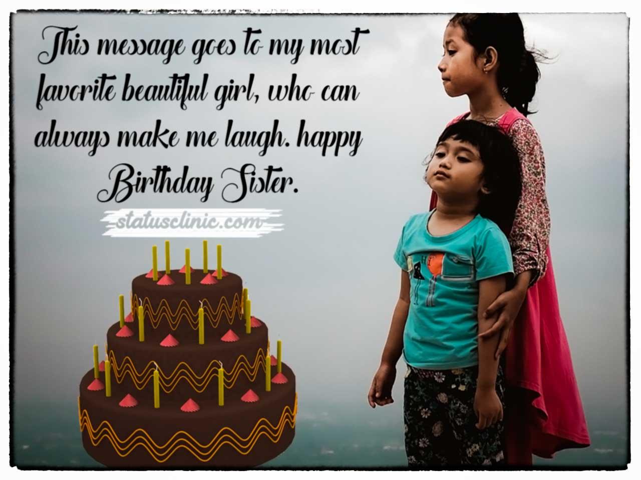 Birthday Wishes Sister Sister Birthday Status Clinic