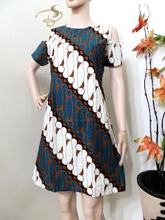 Dress Batik Parang Sabrina Hijau Tua