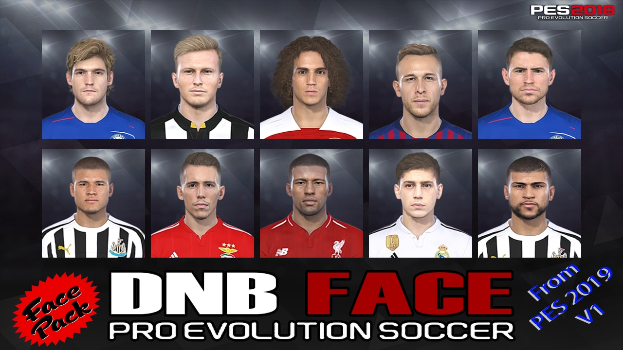 PES 2018 Faceconvert from PES 2019 V1 by DNB Face