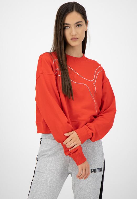 Bluza sport cu Puma cu logo din strasuri