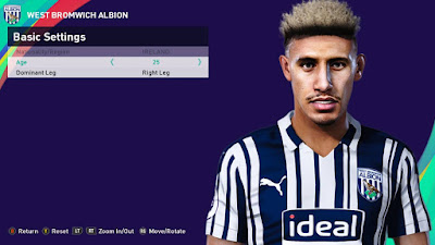 PES 2021 Faces Callum Robinson by Rachmad ABs
